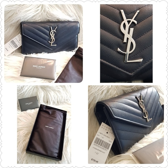 ec872400780 Yves Saint Laurent Bags | Newysl Large Monogram Leather Wallet ...